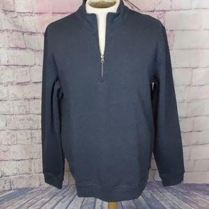 Tailor vintage mens 1/4 zip pullover gray size Xl